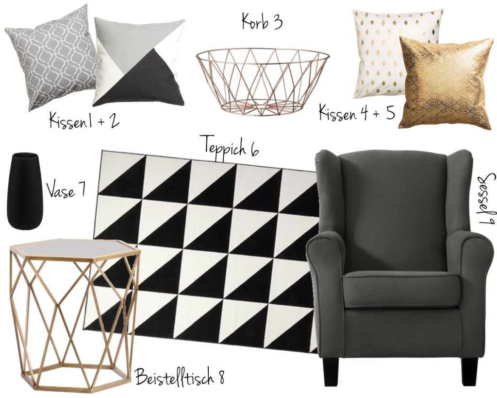Interior Inspiration: black and white, geometric, grey
