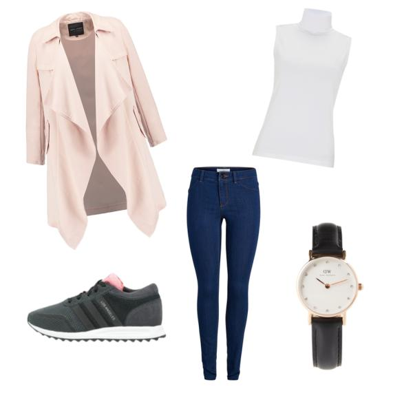 Adidas Los Angeles Outfit Post ceyourgoals, Uhr schwarz gold Daniel Wellington, Trenchcoat shell pink New Look, Leggings Jeans- blau Pieces, fashionblog germany stuttgart, german blogger, deutsch, tracdelight