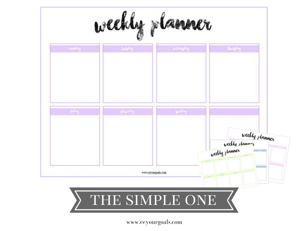 weekly planner | kostenloser Download | ceyourgoals ♡ by Celine