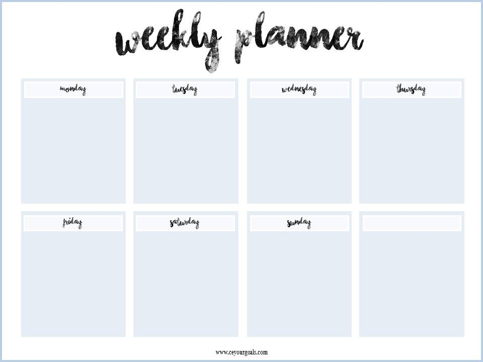 weekly planner free printable weekly planner free download wochenplaner kostenlos download. Black Bedroom Furniture Sets. Home Design Ideas